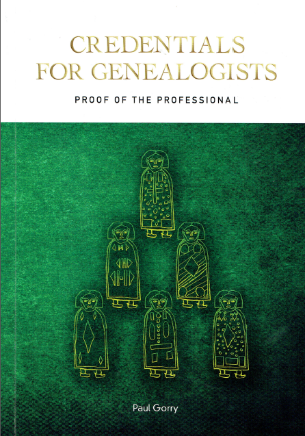 "Cover des Buchs ""Credentials for Genealogists"" von Paul Gorry"